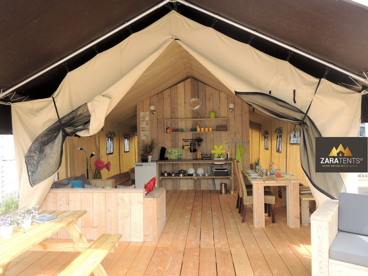 glamping in friesland holland safari zelt mieten am wasser bei maran. Black Bedroom Furniture Sets. Home Design Ideas